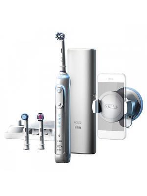 Braun Oral-B Genius 8000 Bluetooth Smart электрическая зубная щетка с датчиком определения зоны чистки (3 насадки)