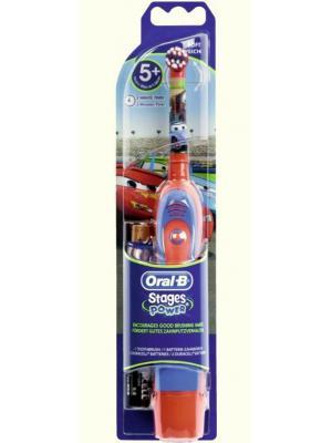 Детская электрическая зубная щетка Braun Oral-B Stages Power DB4510  от 3 до 12 лет Cars