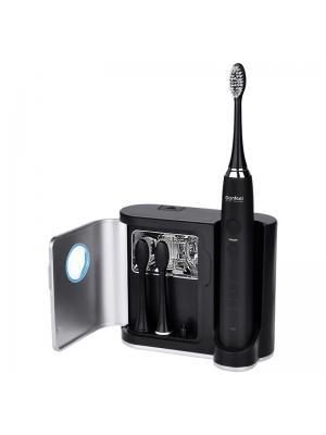 Donfeel HSD-010 черная зубная ультразвуковая электрическая щетка (3 насадки)
