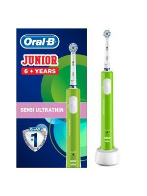 Детская электрическая щетка Braun Oral-B Junior 6+ с таймером на аккумуляторе