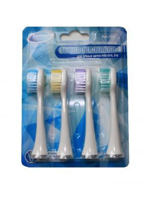 Donfeel набор насадок средней жесткости к зубной щетке Donfeel HSD-015 (4 шт)