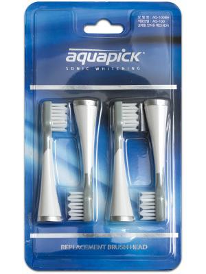 Aquapick AQ-100BH сменные насадки для звуковой электрической зубной щетки (4 шт)