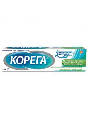 Корега крем для фиксации съемных зубных протезов освежающий вкус (40 гр)