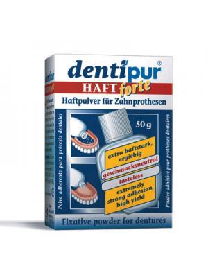 Dentipur haftpulverпорошок для фиксации съемных зубных протезов (50 гр)