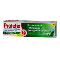 Protefix Aloe-vera крем фиксирующий экстра-сильный для съёмных зубных протезов (47 гр)