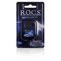 ROCS Black Edition зубная нить 40м расширяющая