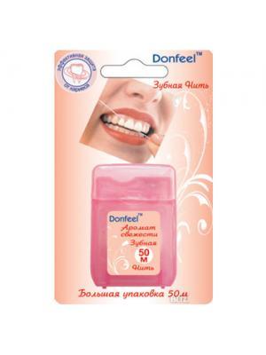 Противомикробная зубная нить с воском Donfeel floss  UF-623  50 м