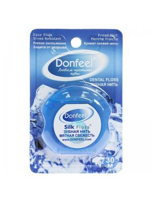 Зубная нить Donfeel UF-627 со вкусом мятной свежести 30 м