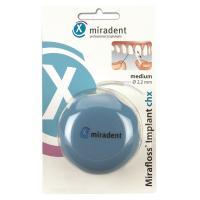 Miradent Implant CHX Medium средняя зубная нить для имплантов и брекетов 2,2 мл