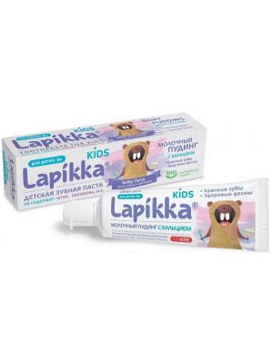 Lapikka Baby зубная паста молочный пудинг с кальцием для детей 3+ (45 гр)