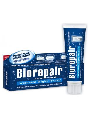 Зубная паста без фтора для восстановления эмали зубов Biorepair Intensive Night Repair ночное востановление 75 мл