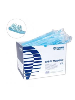 Hager Werken Happy Morning зубные щетки с напылением зубной пасты одноразовые (100 шт)