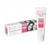 ROCS PRO Young & White Enamel зубная паста для блеска и белизны эмали (135 гр)