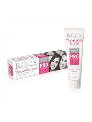 Рокс PRO Young & White Enamel зубная паста для блеска и белизны эмали (135 гр)