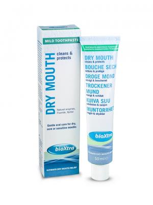 BioXtra Mild Toothpaste Зубная паста устранение сухости рта с ферментами слюны 50 мл