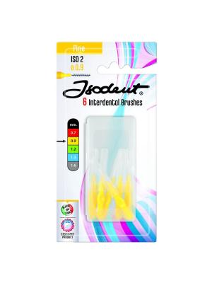 Isodent Interdental Brushes набор межзубных ёршиков 0.9мм жёлтые 6шт