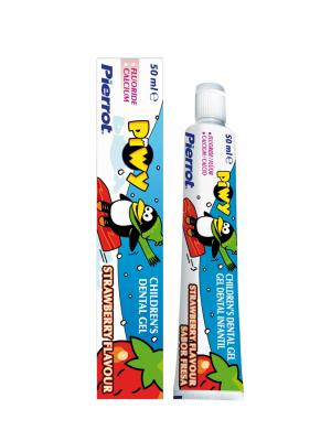 Pierrot Piwy Strawberry Flavour зубная паста гель детская 50 мл