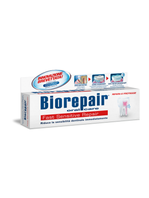 Biorepair Fast Sensitive зубная паста для снижения чувствительности зубов 75 мл.