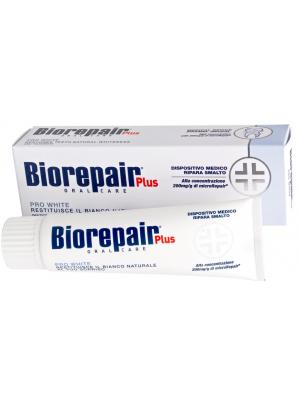 Biorepair Plus PRO White зубная паста для восстановления природного цвета эмали 75 мл.