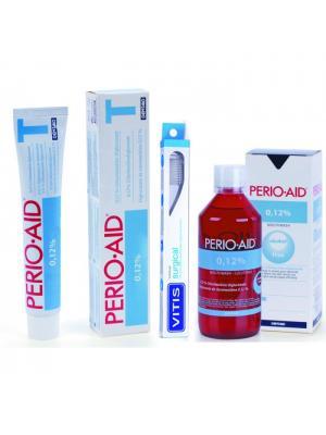 Dentaid Perio Aid набор гигиенический в косметичке - ополаскиватель 500мл, зубная паста, зубная щётка