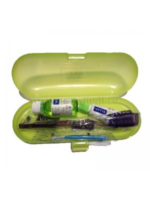 Dentaid Vitis Orthodontic Kit набор ортодонтический - бальзам ополаскиватель, зубная паста, щётка, ёршик