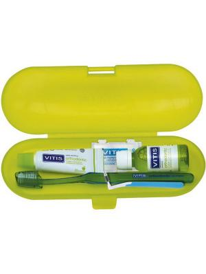 Dentaid Vitis Orthodontic Kit набор ортодонтический - ополаскиватель, паста, щётка, ёршик, воск
