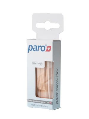 Paro Sticks Micro медицинские деревянные трёхгранные зубочистки 96 шт.