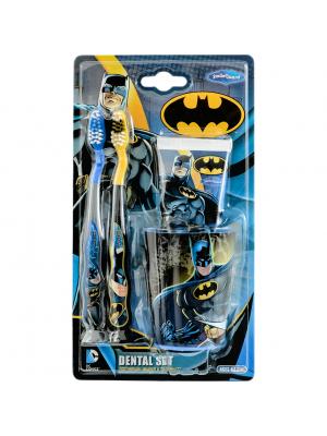 Набор дентальный Batman Dental kit: 2 мягкие зубные щетки, зубная паста 75 мл, стакан от 3 лет