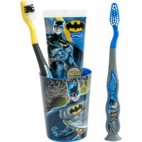 Smile Guard Batman Dental Set Набор дентальный: 2 мягкие зубные щетки, зубная паста 75мл, стаканчик. От 3-х лет,