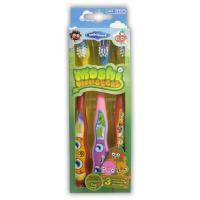 SmileGuard Moshi Monsters Toothbrushes 3 Набор детских зубных щеток из 3 штук с резиновой вставкой.